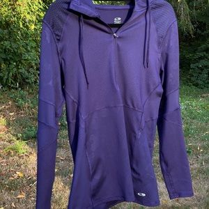 Champion Duo Dry Running Hoodie Eggplant Size L